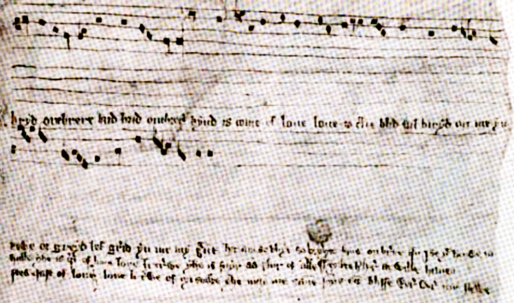 Bryd one brere. The manuscript is now in King's College, Cambridge (MS. Muniment Roll 2 W. 32r).
