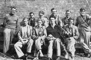 Carter Sydney (holding a skull) with the Friends (Quakers) Ambulance Unit in the summer of 1940.
