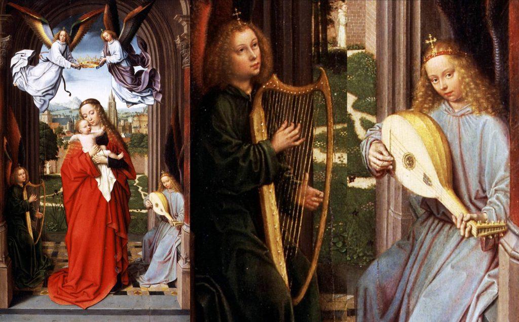 GerardDavid.Flemish.Virgin&ChildWithFourAngels1510
