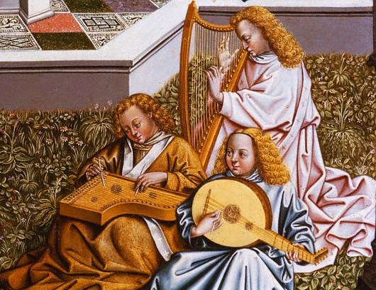 Jan van Eyck (1395-1441), detail from The Fountain of Life showing