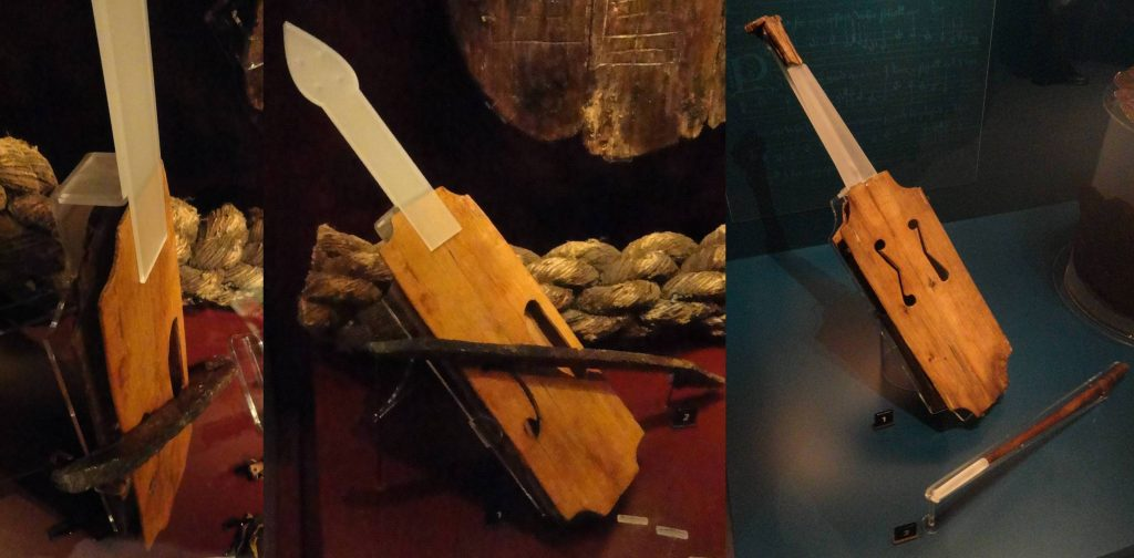 The only two survivng vielles, which sunk with the Mary Rose. Photographs by Peter Forrester, used with his kind permission.