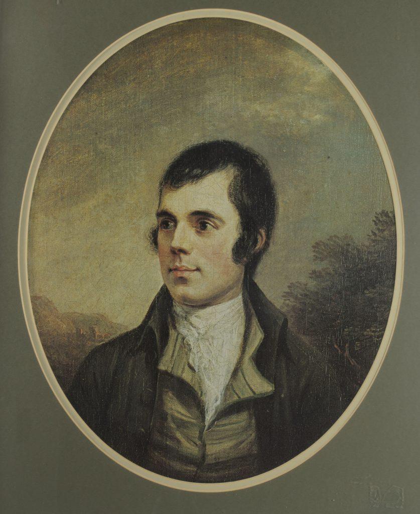Alexander Nasmyth's portrait of Robert Burns.