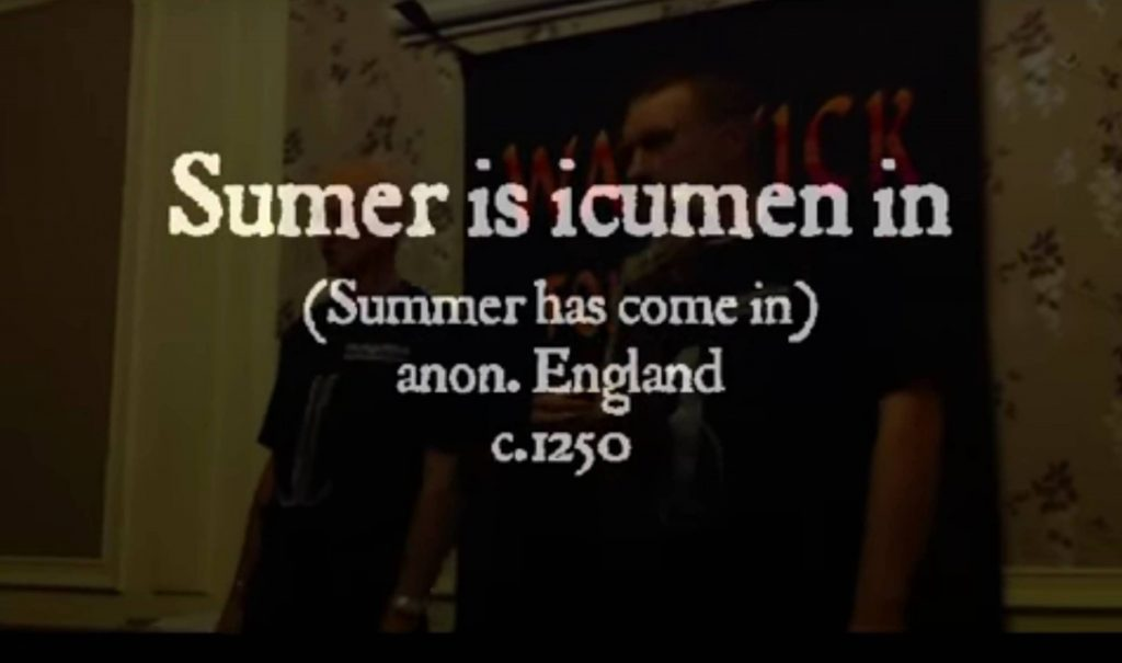 The Night Watch sing Sumer is icumen in. Click picture to play – opens in new window.