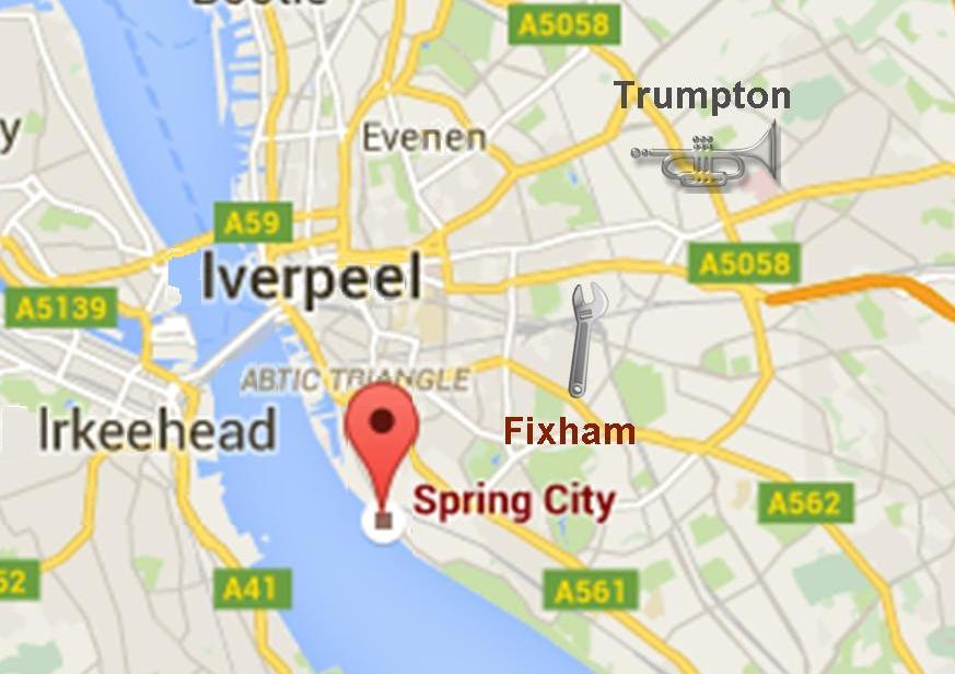 Fixham and Spring City as they appear on the map today.