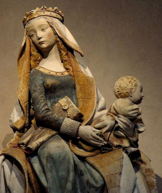 The Virgin of Toulouse, Notre Dame de Grasse (Our Lady of Grace), 1451-1500, now in the Musée des Augustins, Toulouse, France.